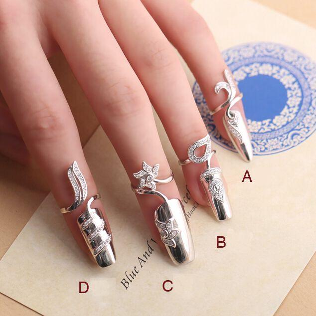 Купить товар925 чистое серебро гвоздь кольцо циркон для женщины изменяемый костяшки кольца 4 шт / комплект в категории Кольцана AliExpress.  Размер Описание:  Абзац: Кабошон высота: 3.00 см ноготь ширина: 0.70 см  B разделе: Кабошон высота: 3.95 см ноготь шири