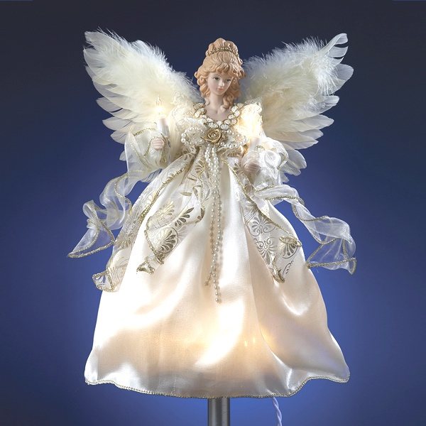 Merveilleux Our Magnificent Lighted Angel Tree Topper Adds The Crowning Touch To Your Christmas  Tree. Crafted With A Beautiful Face, Our Magnificent Angel Wears An ...