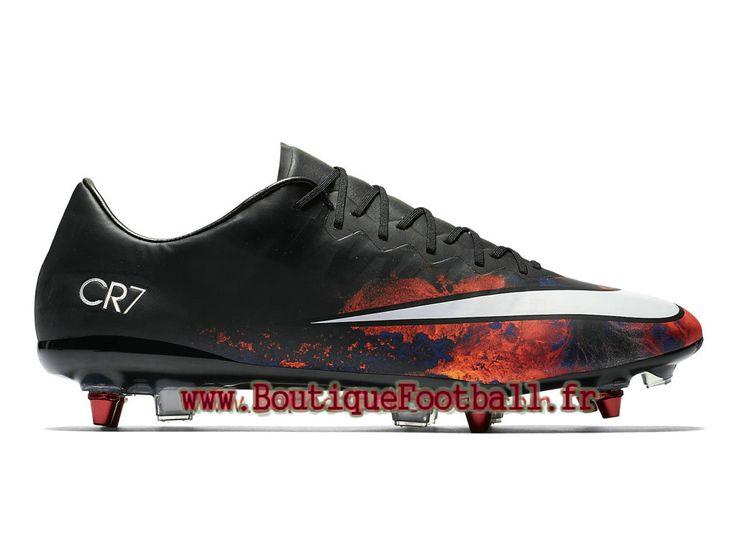 Nike Mercurial Vapor X SG-Pro Chaussure de football à crampons pour terrain sec pour Homme Noir Total Crimson 684832_018