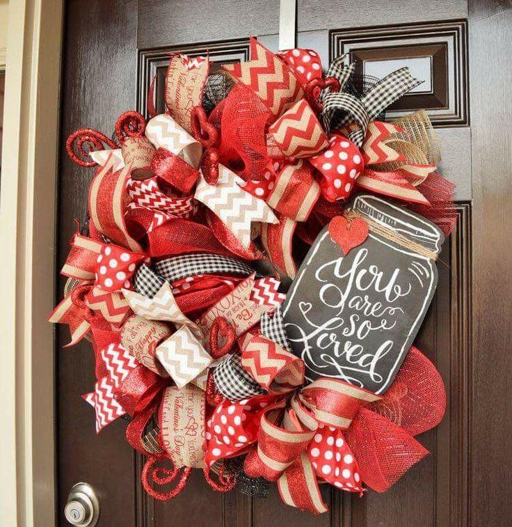 best 25 valentine day wreaths ideas on pinterest diy valentine 39 s day door decorations. Black Bedroom Furniture Sets. Home Design Ideas