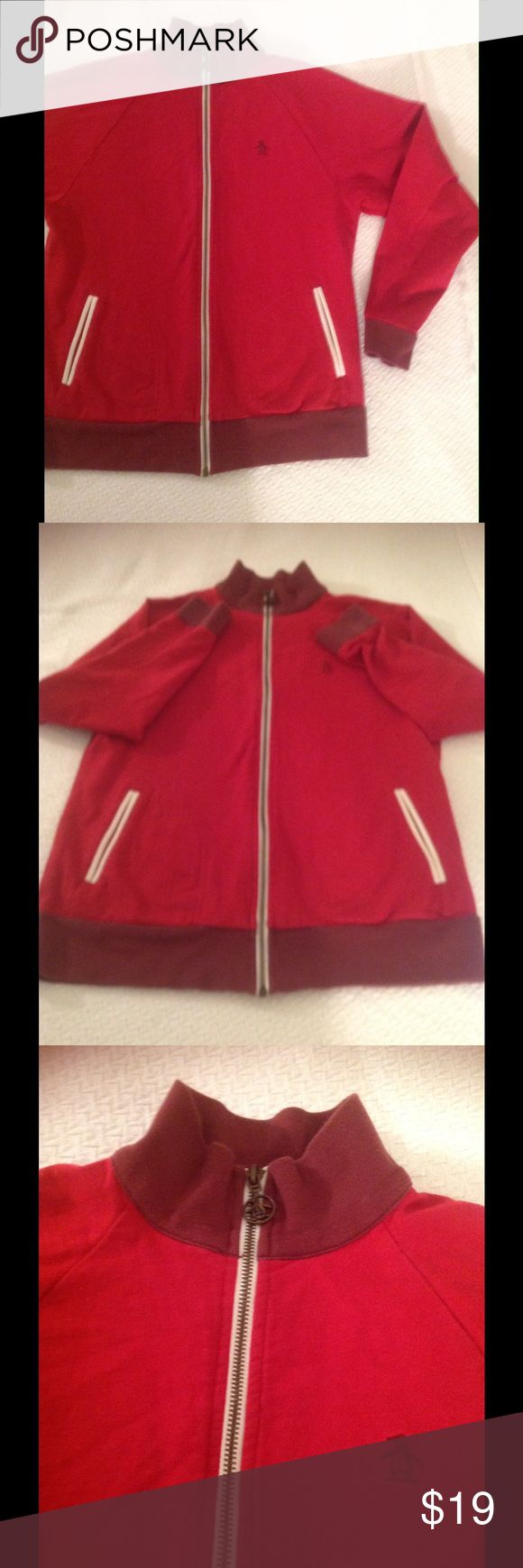 Track Style Light weight jacket slim fit This is a penguin for kids track jacket lightweight slim fit the penguin brand has a great cut in their clothing it always looks very nice and sharp. Jackets & Coats