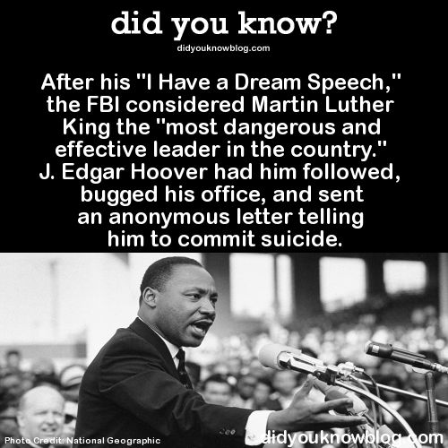 """After his """"I Have a Dream Speech,"""" the FBI considered Martin Luther King"""