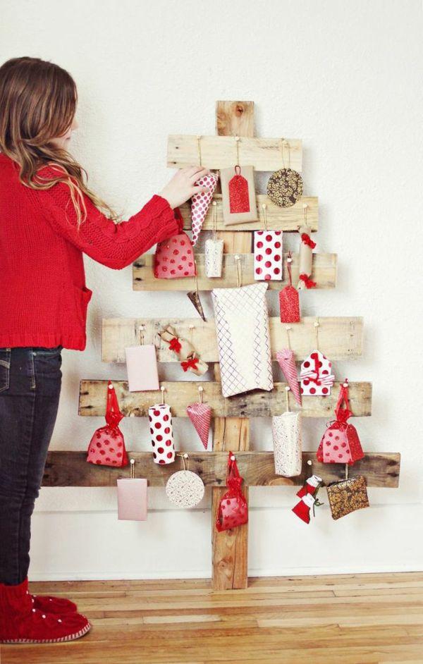 adventskalender selbst gestalten holzpaletten geschenkideen adventskalender füllen
