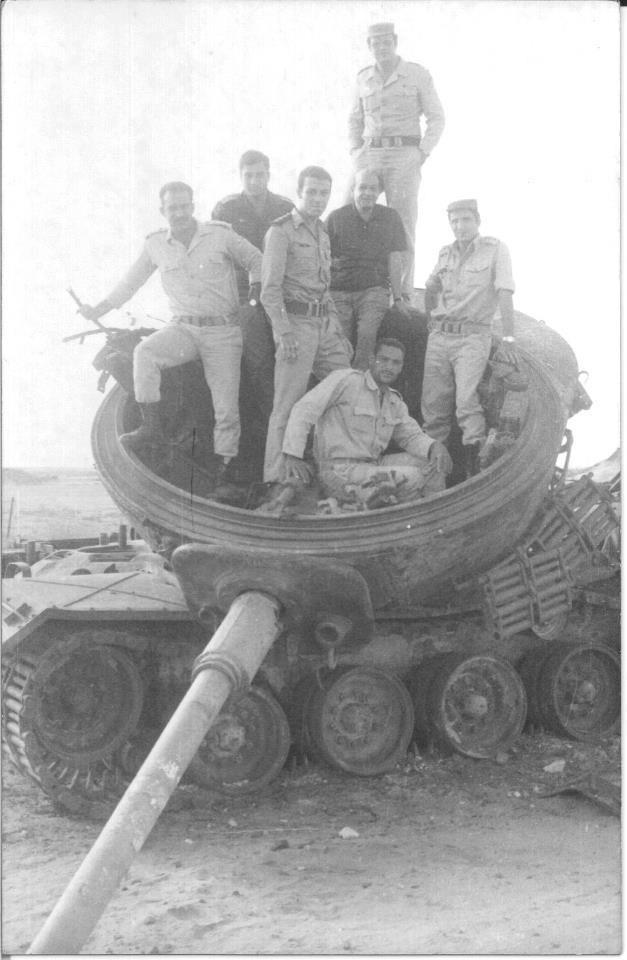 October war Yom Kippur war حرب اكتوبر Egyptian soldiers in an israel tank