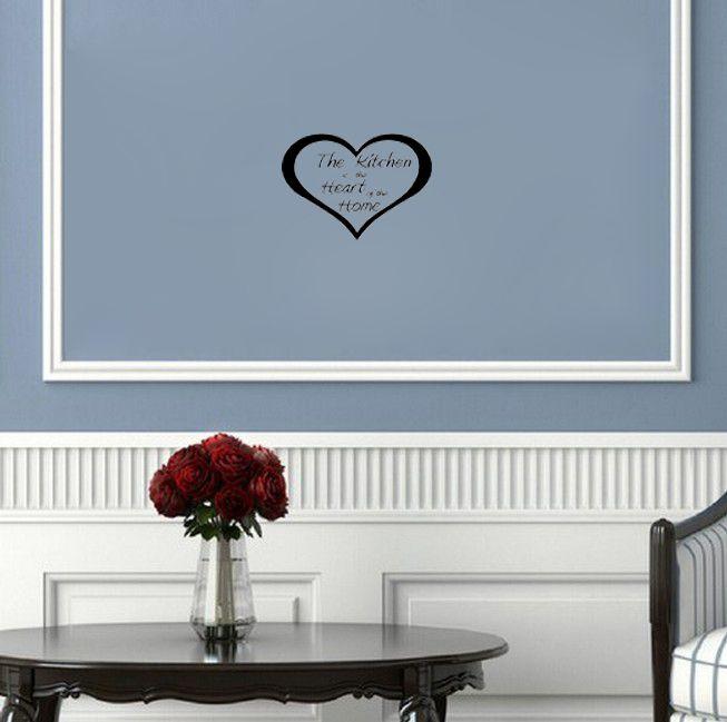 Кухня Сердце Главная украшение стены искусства наклейки цитатой гостиная украшения обои кухня стикер
