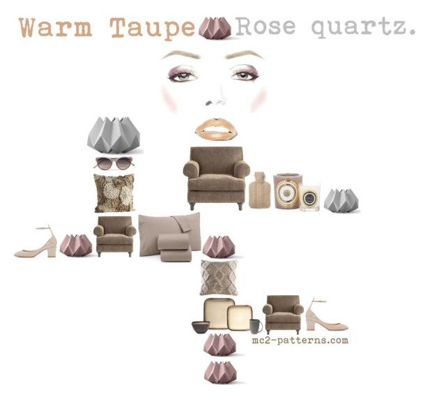 Warm taupe. Inspiration III. by mc2-patterns on Polyvore featuring interior, interiors, interior design, home, home decor, interior decorating, Pier 1 Imports, Baum Bros., Emaux de Longwy and Menu