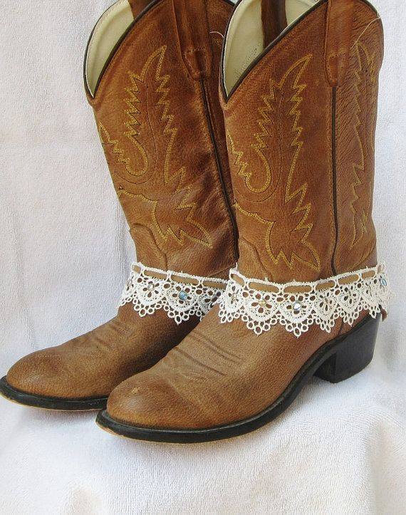 LEATHER AND LACE boot cuff bracelet studs by feathers2gether, $28.00