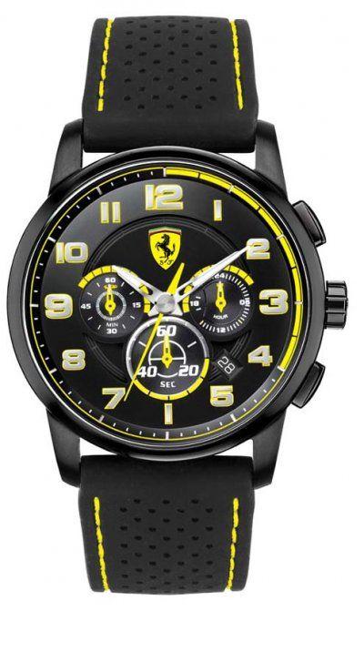 ferrari premio mens band s watch dial scuderia gran black sale leather model men shop