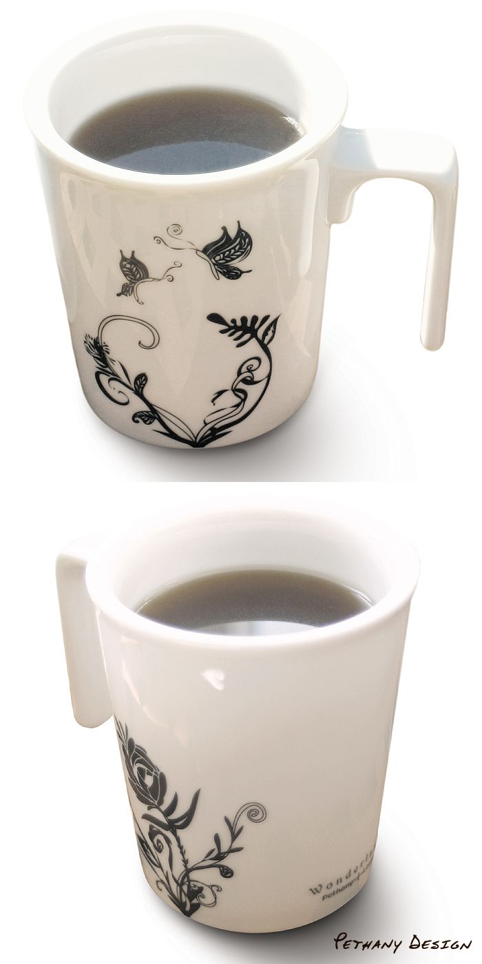 [ Wonderland Kissing Mug (2018)] Material: Porcelain; Designed in 2008 for Pethany+Larsen. Made in Taiwan.