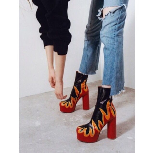 Fire Boots Inspiration Pinterest Fire And Boots