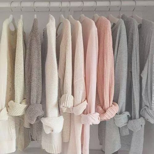 The use of light/pastel colours allows the wardrobe to look brighter and pleasing to the eye.