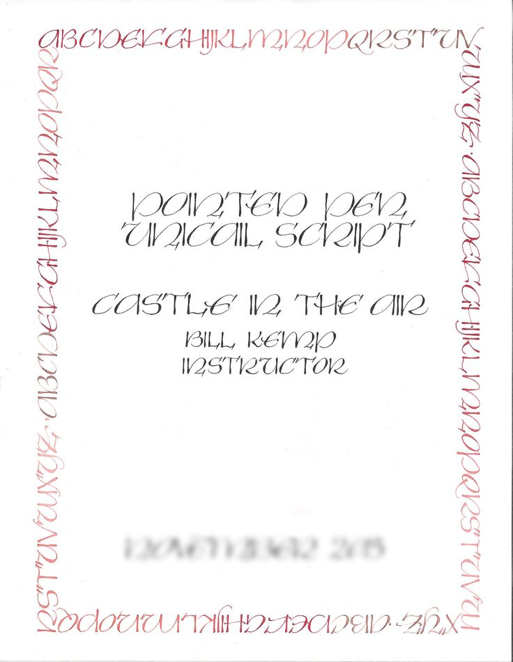 Calligraphy class uncial pointed pen sunday june 12 Calligraphy course