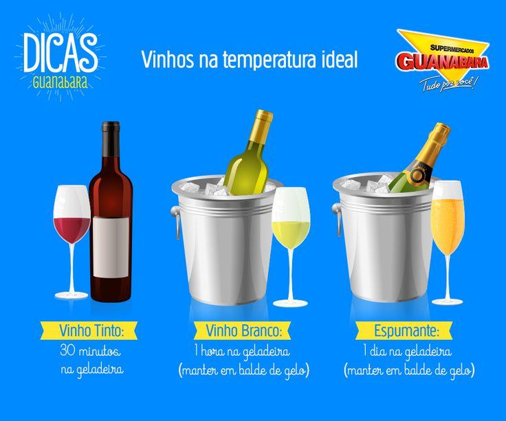 Vinhos na temperatura ideal — Supermercados Guanabara