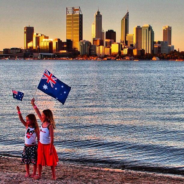 #Australia day #Perth Ausie, Ausie, Ausie..... Oi, Oi, Oi