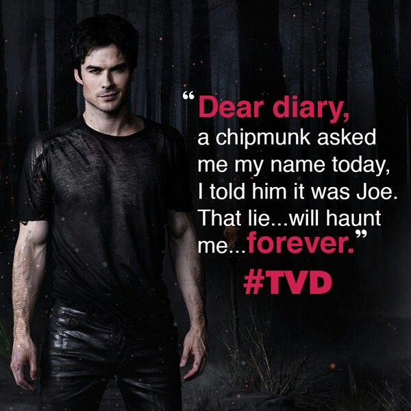 That lie Will hunt me forever     | The Vampire Diaries