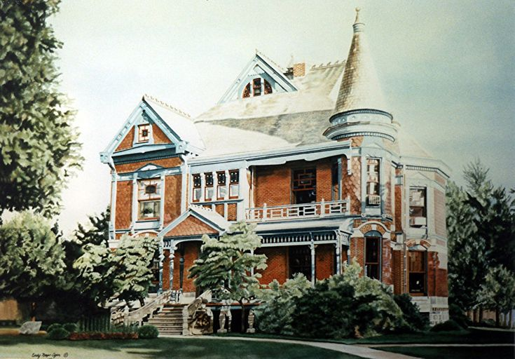 Niles, Michigan (commission) by Cindy Agan Watercolor ~ 24 x 32