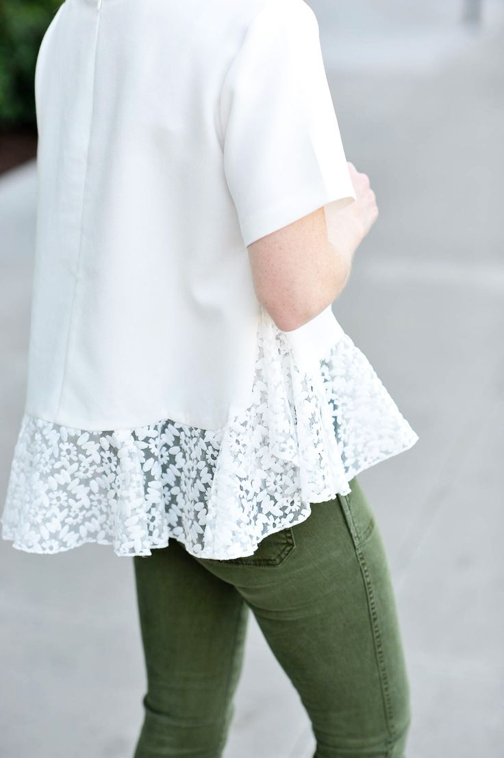 White Peplum Top - Spring Style - Poor Little It Girl