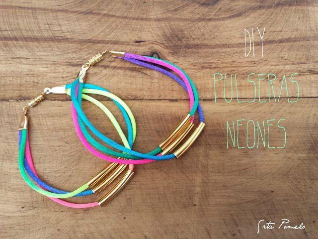 DIY: pulseras neones a la moda.