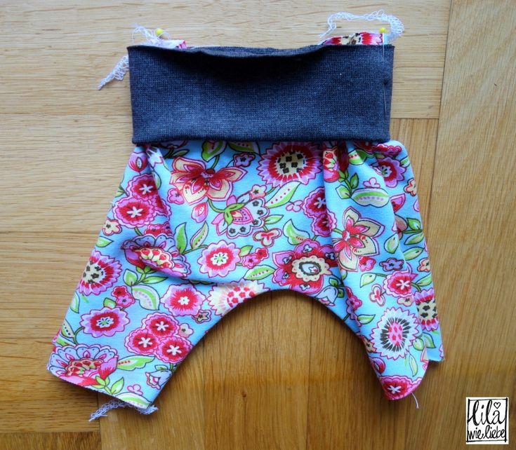 neugeborenen fr hchen und puppenhose broekje mini selbst n hen fr hchen pumphose und. Black Bedroom Furniture Sets. Home Design Ideas