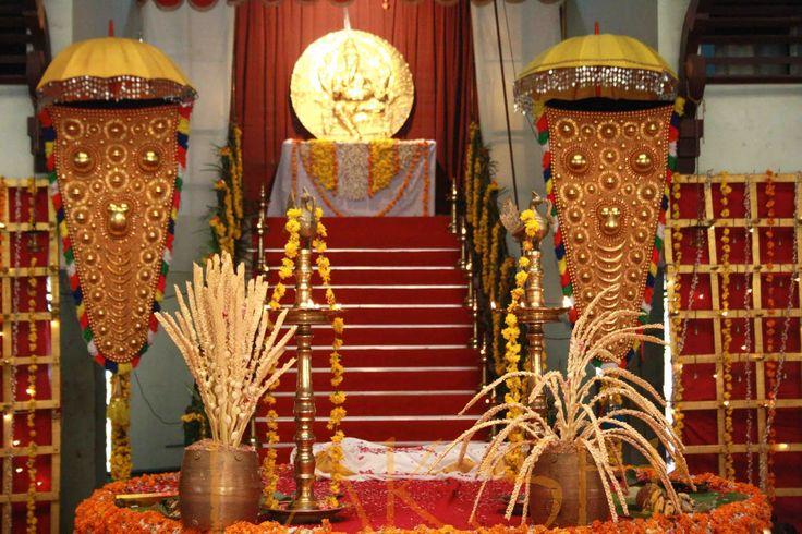 traditional decor at a malayali hindu wedding