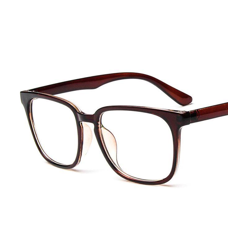 Vintage Square Frame Gradient Eyeglasses Frames Men Women Hipster Plain Glasses Monturas De Gafas