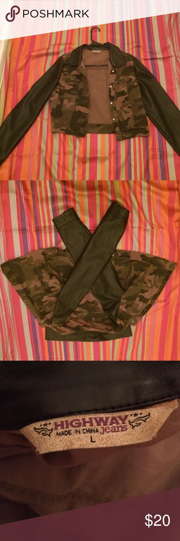 Cropped army fatigue jacket Never worn , great condition jacket perfect for the fall  Forever 21 Jackets & Coats Jean Jackets