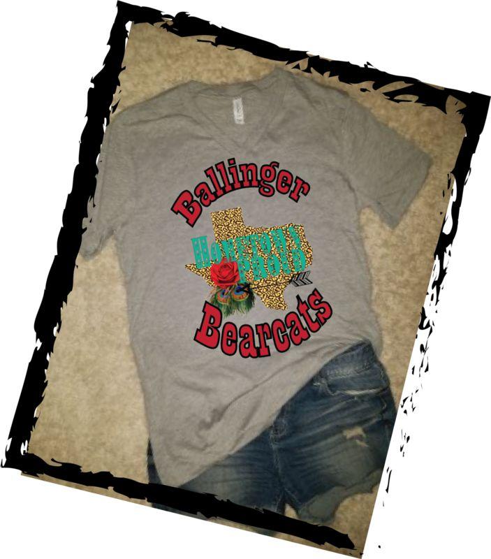 Kids Ballinger Bearcats Texas (lt Grey)