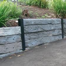 concrete sleeper retaining walls - Google Search