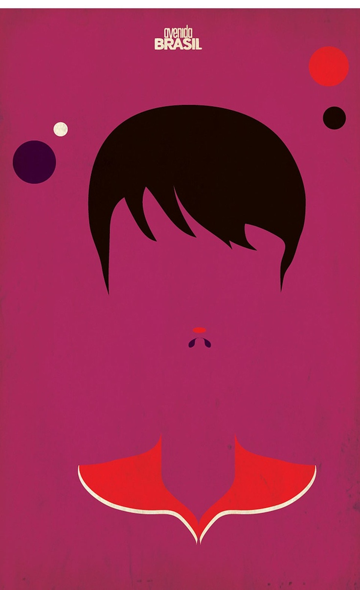 Posters minimalistas da novela Avenida Brasil