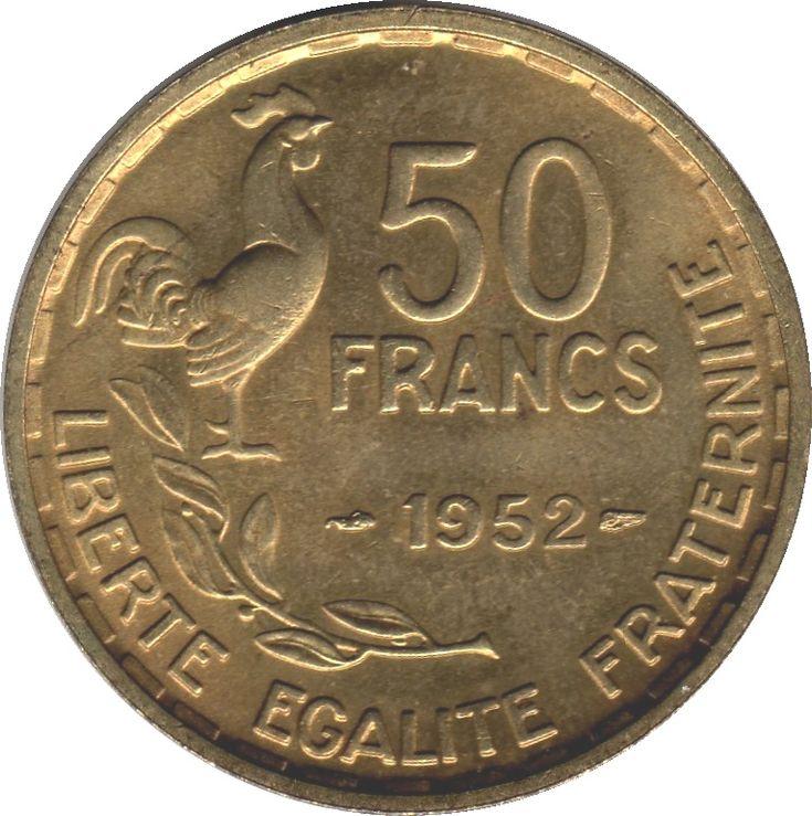 50 FRANCS 1952 LIBERTE EGALITE FRATERNITE