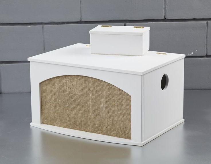 Ξύλινο κουτί με λεπτομέρεια λινάτσα