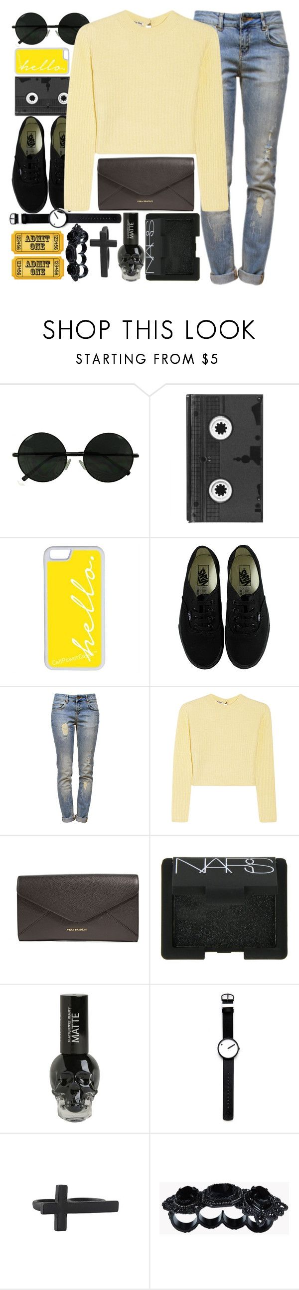 """""""1227"""" by anastaziah2014 ❤ liked on Polyvore featuring Luckies, CellPowerCases, Vans, Anine Bing, Miu Miu, Vera Bradley, NARS Cosmetics, Rosendahl, Forever 21 and Dsquared2"""