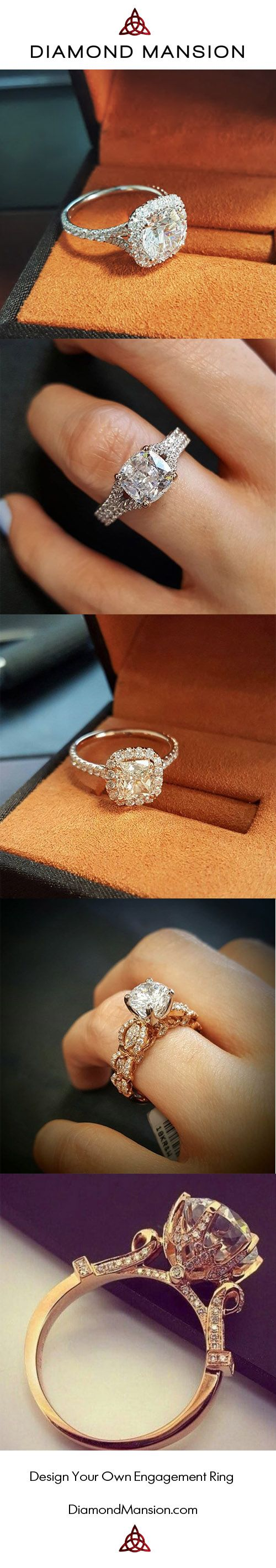 Design Your Own Engagement Ring at Diamond Mansion. Start Designing by Selecting From The Largest Selection of Engagement Ring Style. #Design #YourOwn #EngagementRing #DesignYourOwnEngagementRing http://www.DiamondMansion.com