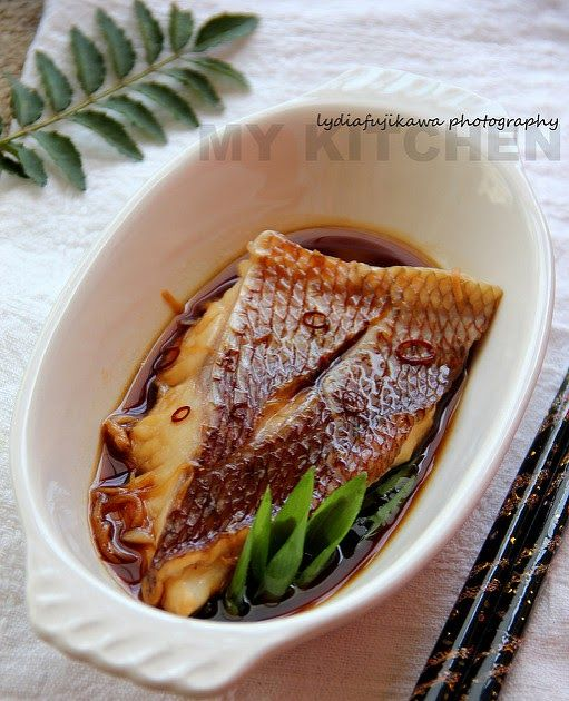 Simmered Red Snapper in Soy Sauce