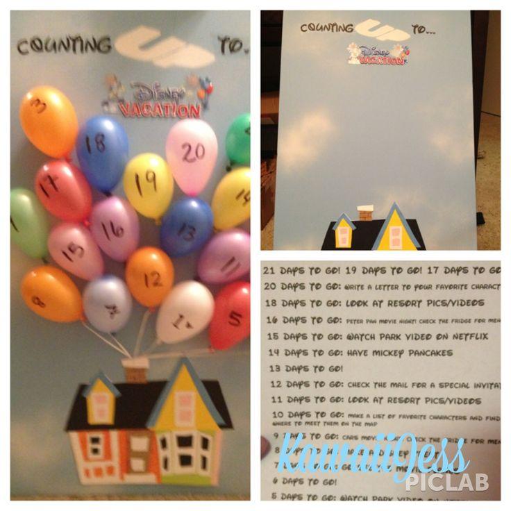 Aftelkalender voor een Disneylandtrip - Up!