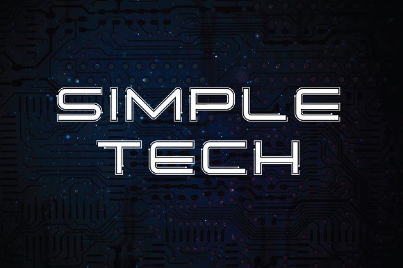 Simple Tech Typeface by Atjcloth Studio on @creativemarket