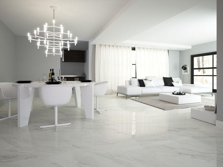 Calacatta Marble Gloss Glazed Porcelain Tile This Bright