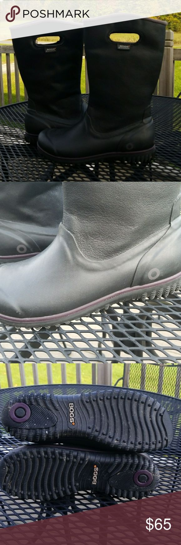 Bogs Winter boots Wore once. Leather upper Bogs Winter boots. Size 10 women. bogs Shoes Winter & Rain Boots