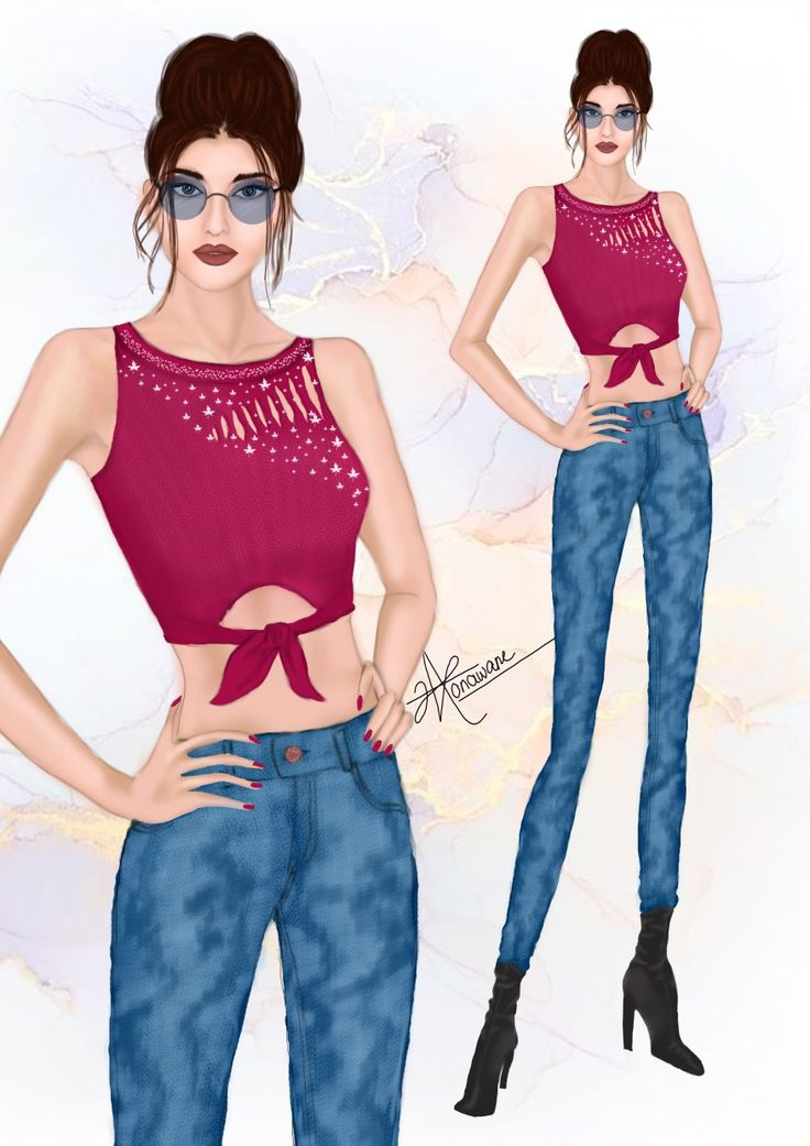 Hair illustration - fashion illustration - Fashion art