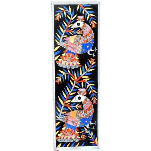 COLORED BIRDS http://www.indiancraftsmen.com/art-c4ca4238a0b923820dcc509a6f75849b/madhubani/colored-birds