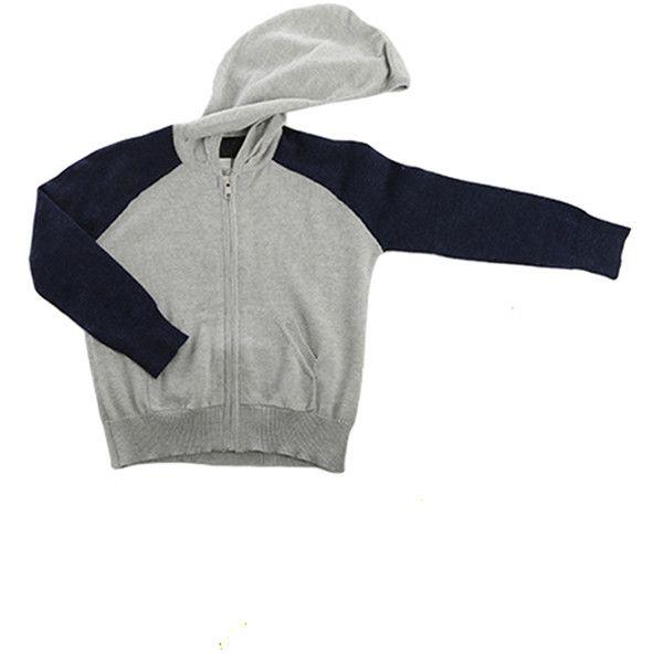 Blue&Cream Kids Cashmere Zip Hoody (120 AUD) ❤ liked on Polyvore featuring tops, hoodies, blueandcreamen, kids, white hooded sweatshirt, hooded zipper sweatshirts, zip up hoodie, blue zip up hoodie and zipper hoodie