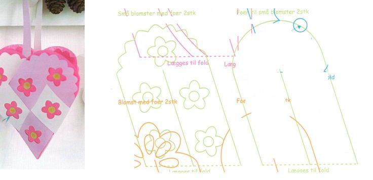 Dobbelthjerte med blomster