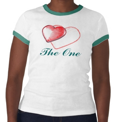 Two Hearts - The One Tees / Two hearts as -THE ONE- for Happy Birthday, or Happy Baby Shower, Forever Together and all the Love