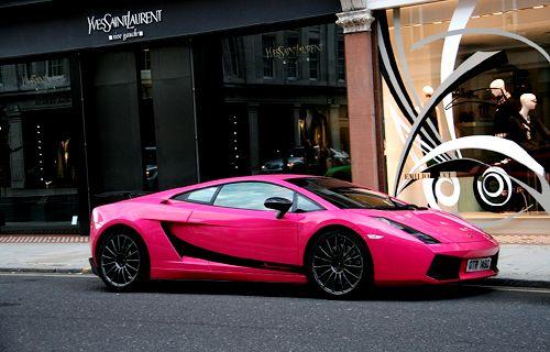 Pink Lambo by YSL