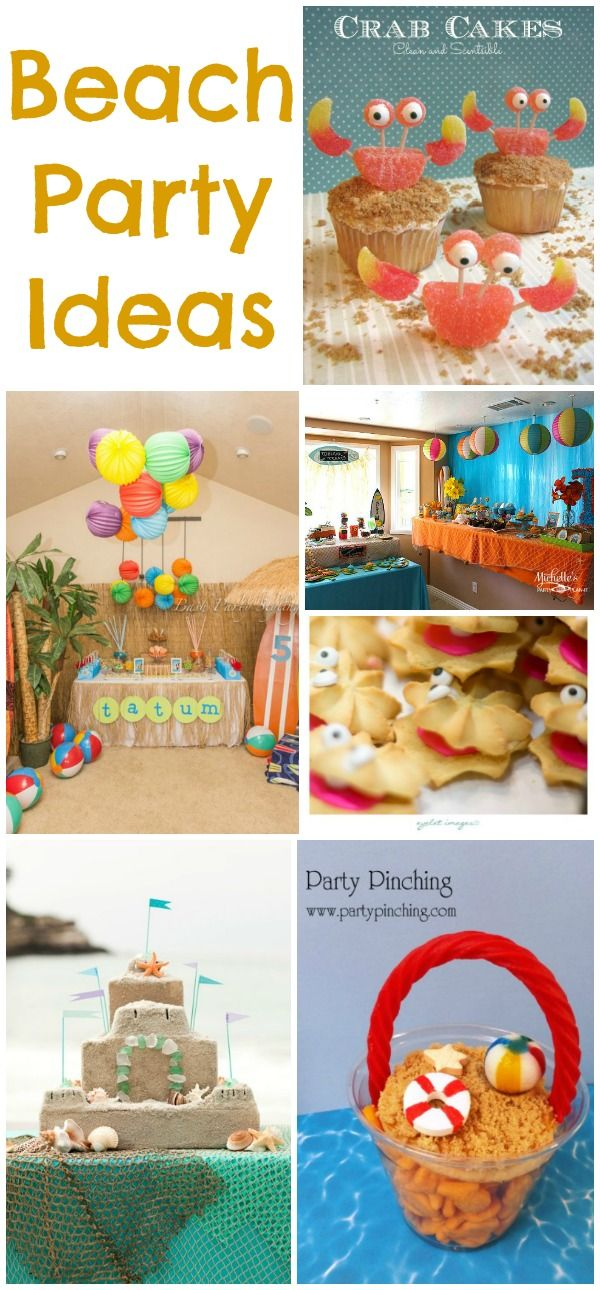 Lots of fun beach party ideas!!       Family Activities Party Ideas Birthdays Baby...