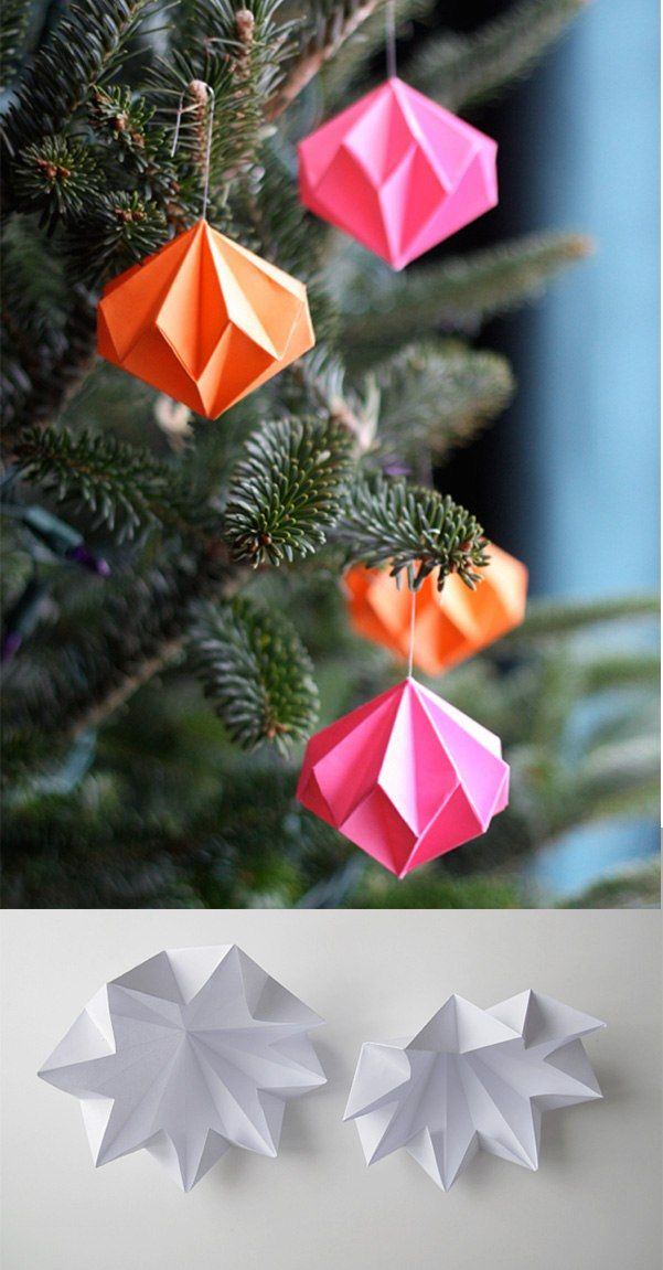 Diamantes de papel decorativos para Navidad