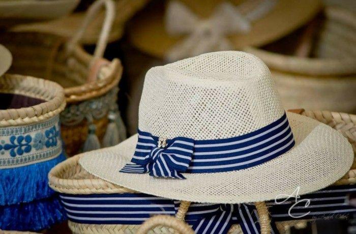 Set de capazo mas sombrero navy mediterraneanstyle by anabelcohen