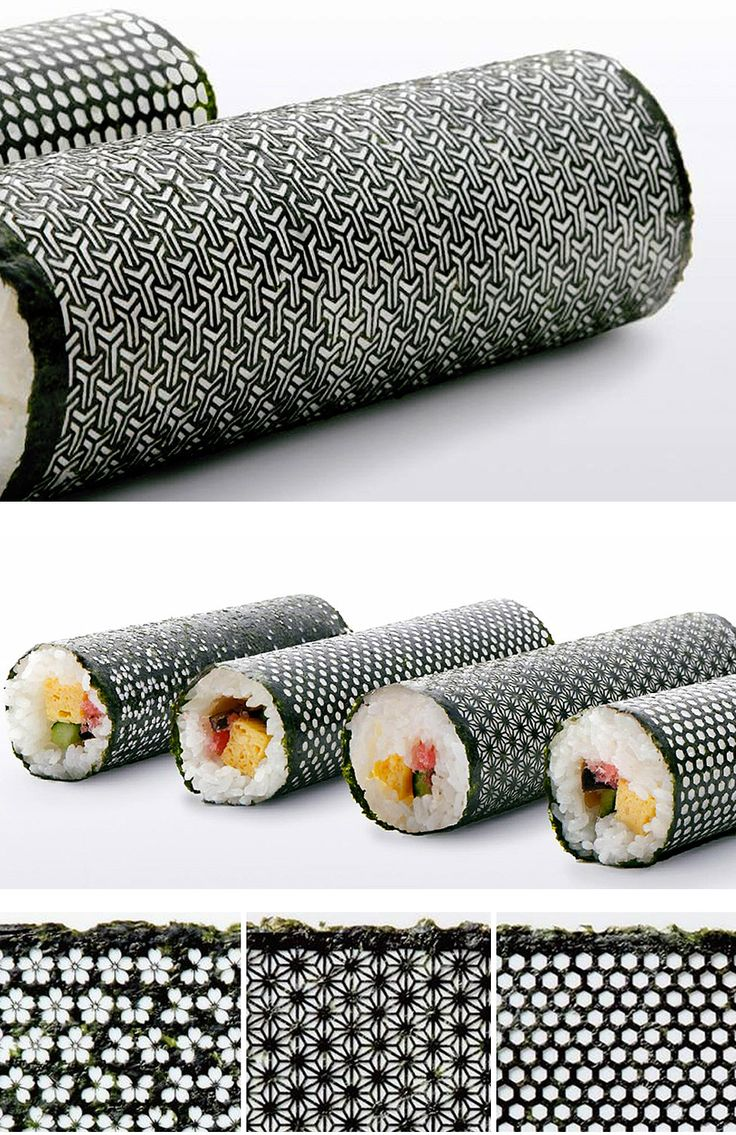WHAT. // SUSHI WITH STYLE Design Nori: Laser cut seaweed for sushi.