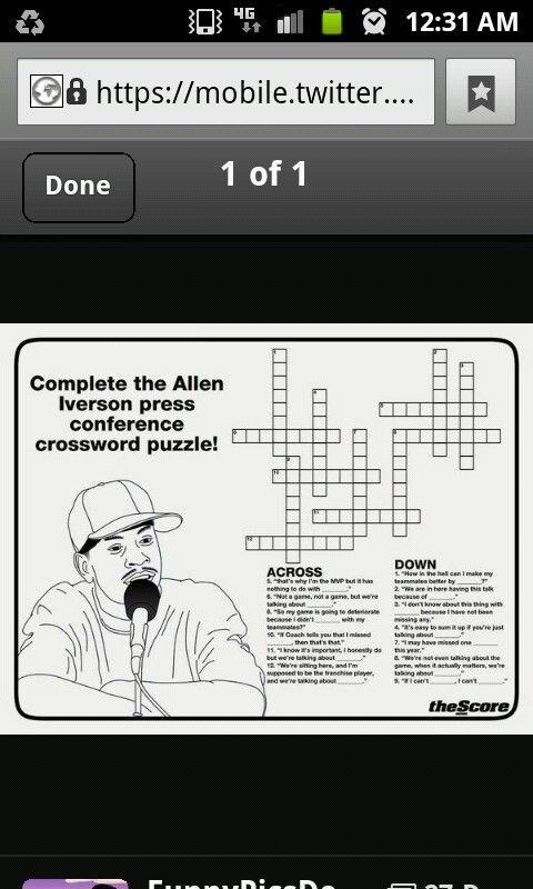 Allen Iverson. Practice!