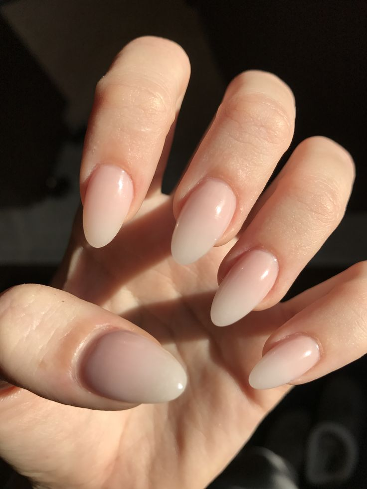 Natural Ombré Almond Acrylic Nails